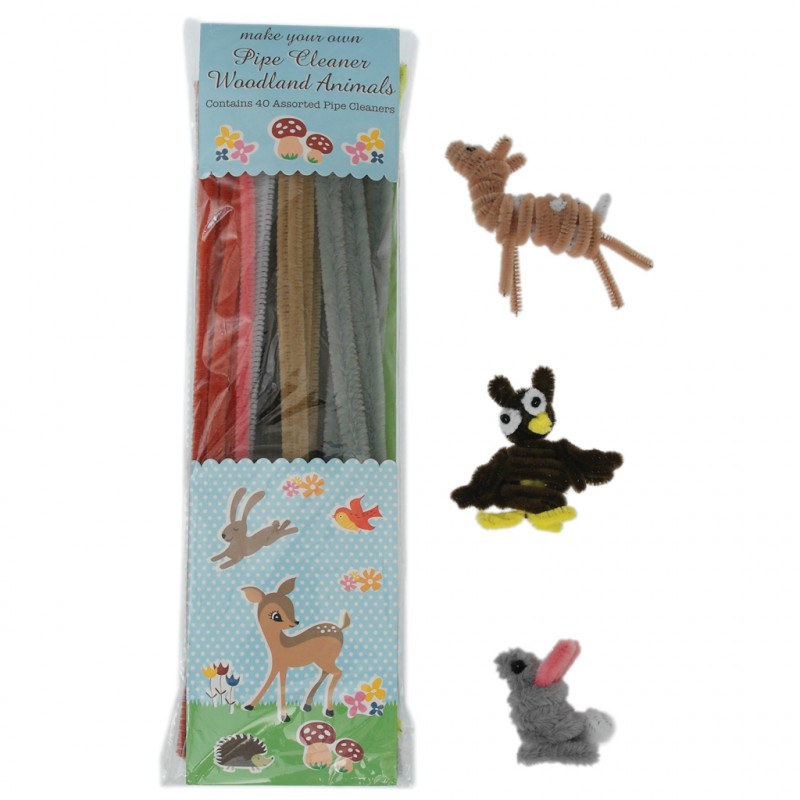 Rex London Woodland Animals Pipe Cleaner Set