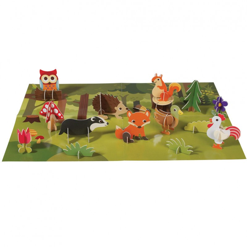 Rex London Make Your Own 3d Woodland Scene