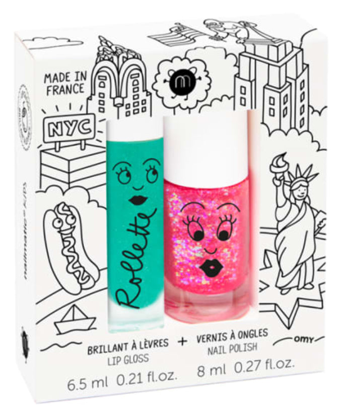 Nailmatic Kids Lip & Nail Duo - New York