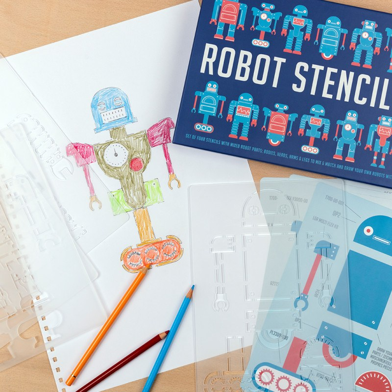 Rex London Robot Stencils (Set Of Four)