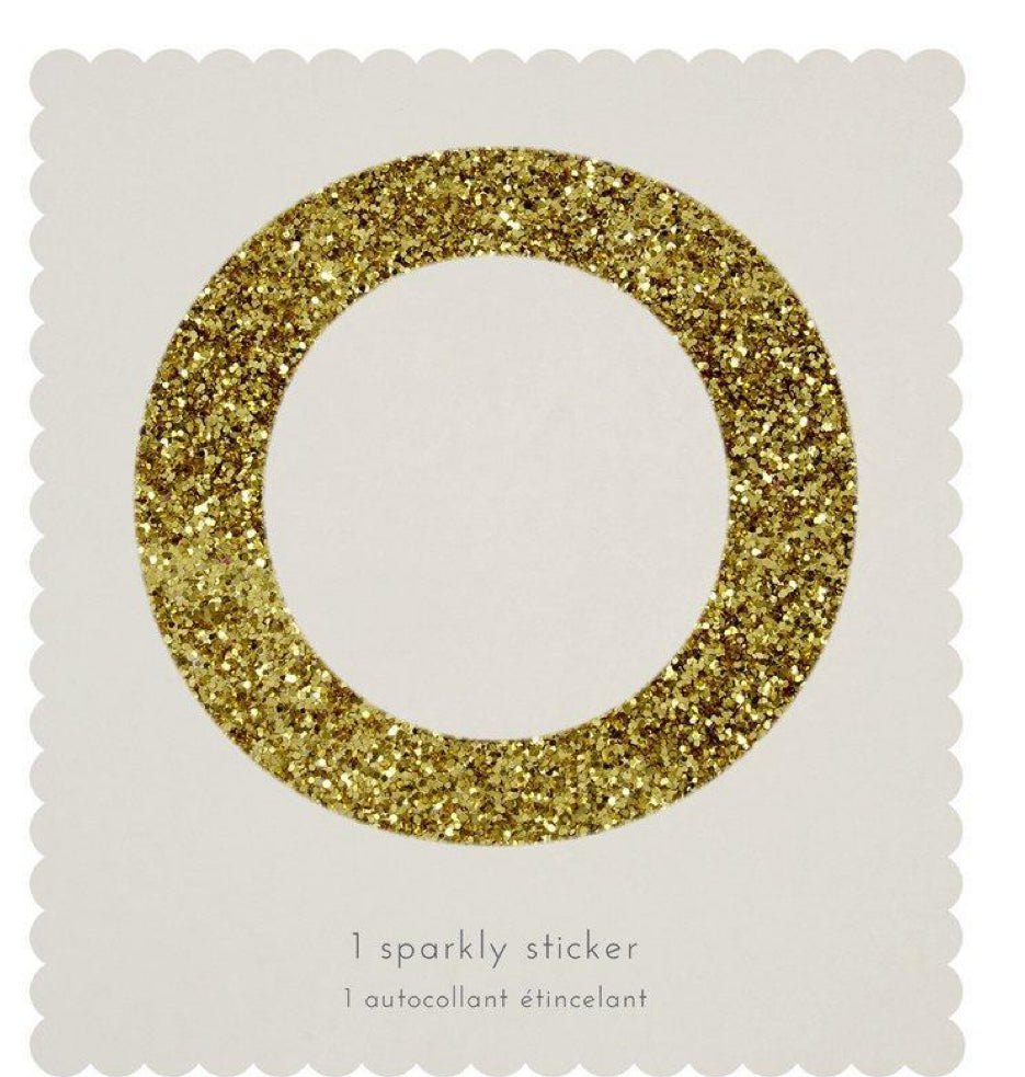 Meri Meri O Sparkly Sticker