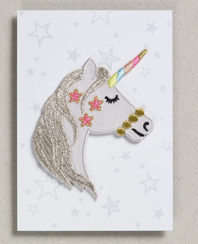 Petra Boase Iron On Patch Unicorn Head
