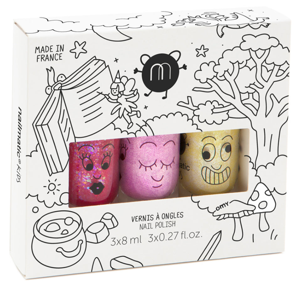 Nailmatic Kids Nail Polish Trio - Magic Forest 3
