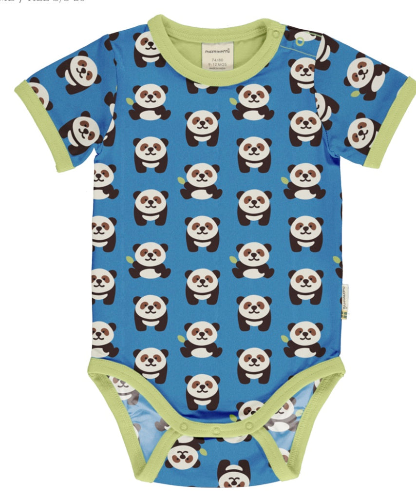 Maxomorra Playful Panda Short Sleeve Body