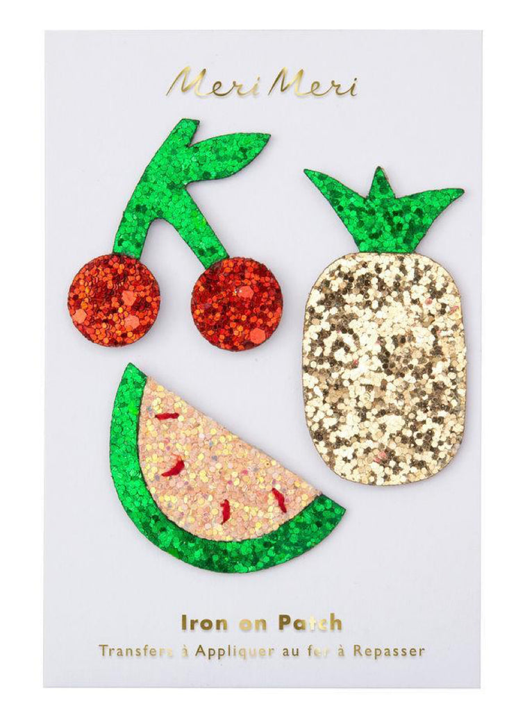 Meri Meri Glitter Fruit Iron On Patches