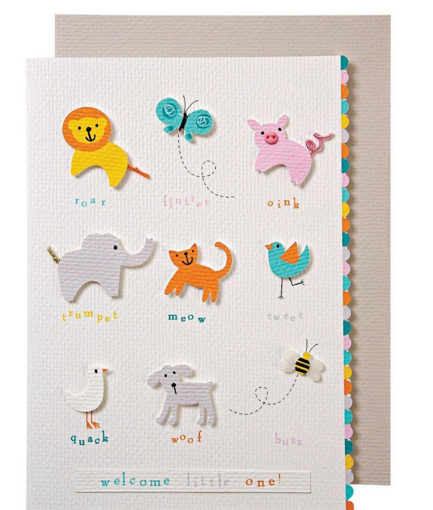 Meri Meri Animals Baby Card
