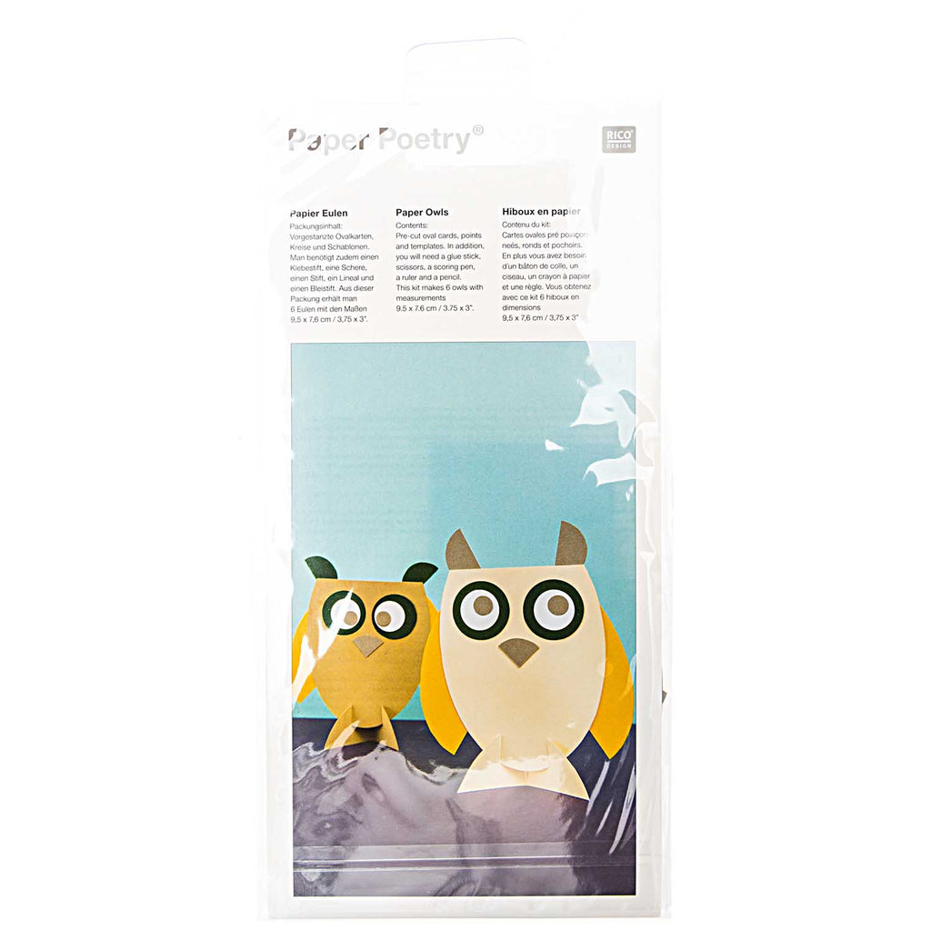 Rico Design Paper Poetry Owl Activity Kit