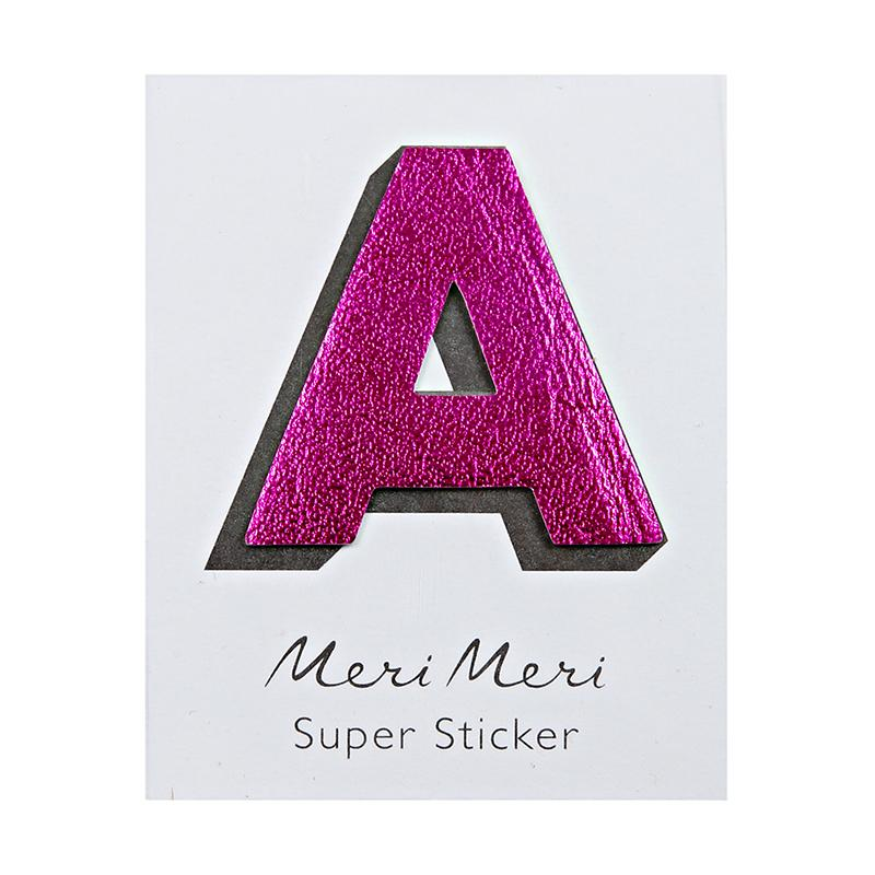 Meri Meri Leatherette Alphabet Stickers