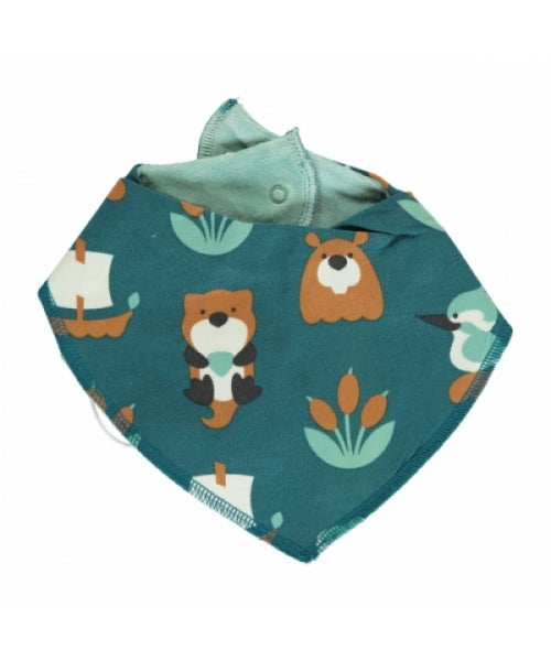 Maxomorra Lake Life Velour Dribble Bib