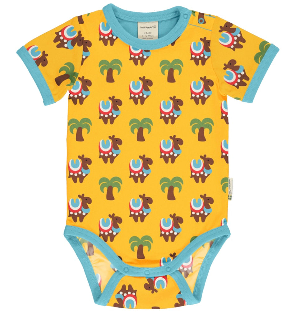 Maxomorra Camel Caravan Short Sleeve Body