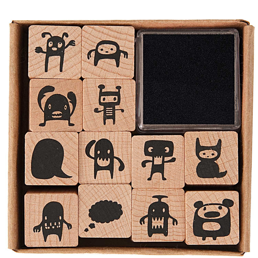 Rico Design Paper Poetry Monster Stamp Set