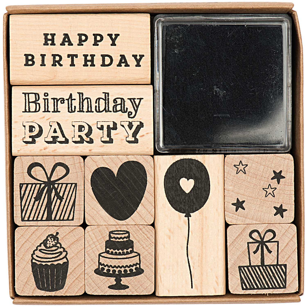 Rico Design Paper Poetry Birthday Stamp Set