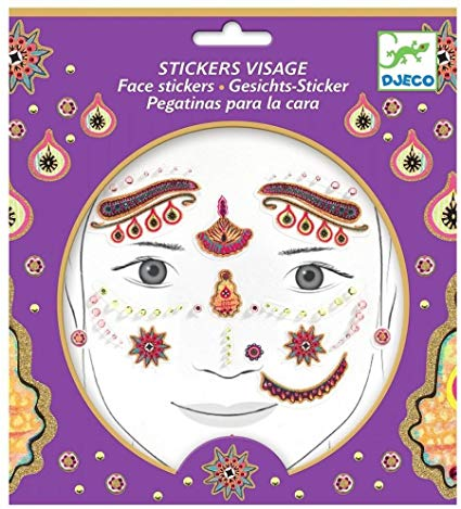Djeco India Princess Face Stickers
