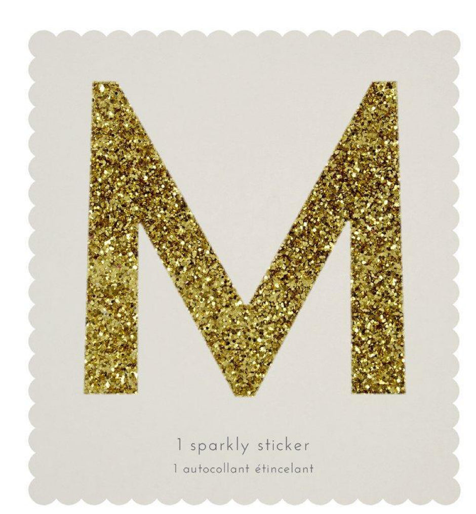 Meri Meri M Sparkly Sticker
