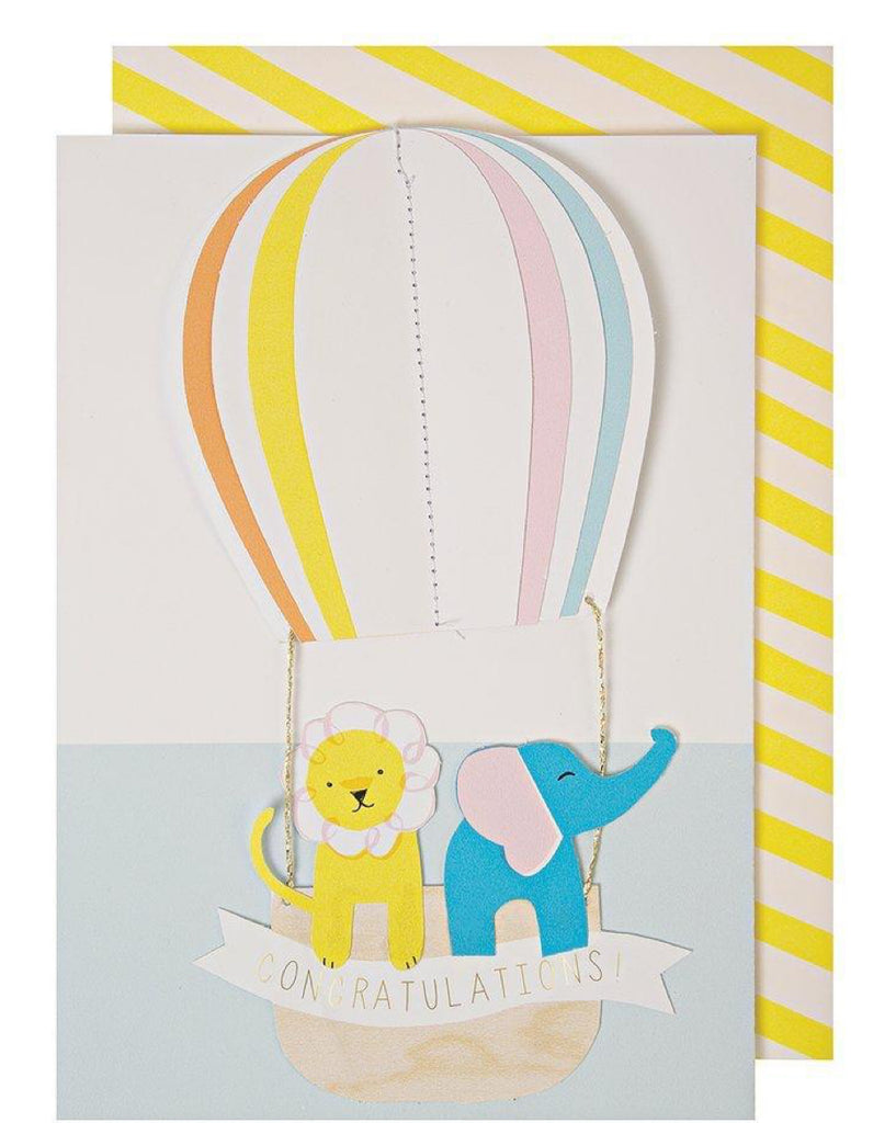 Meri Meri Hot Air Balloon Baby Card