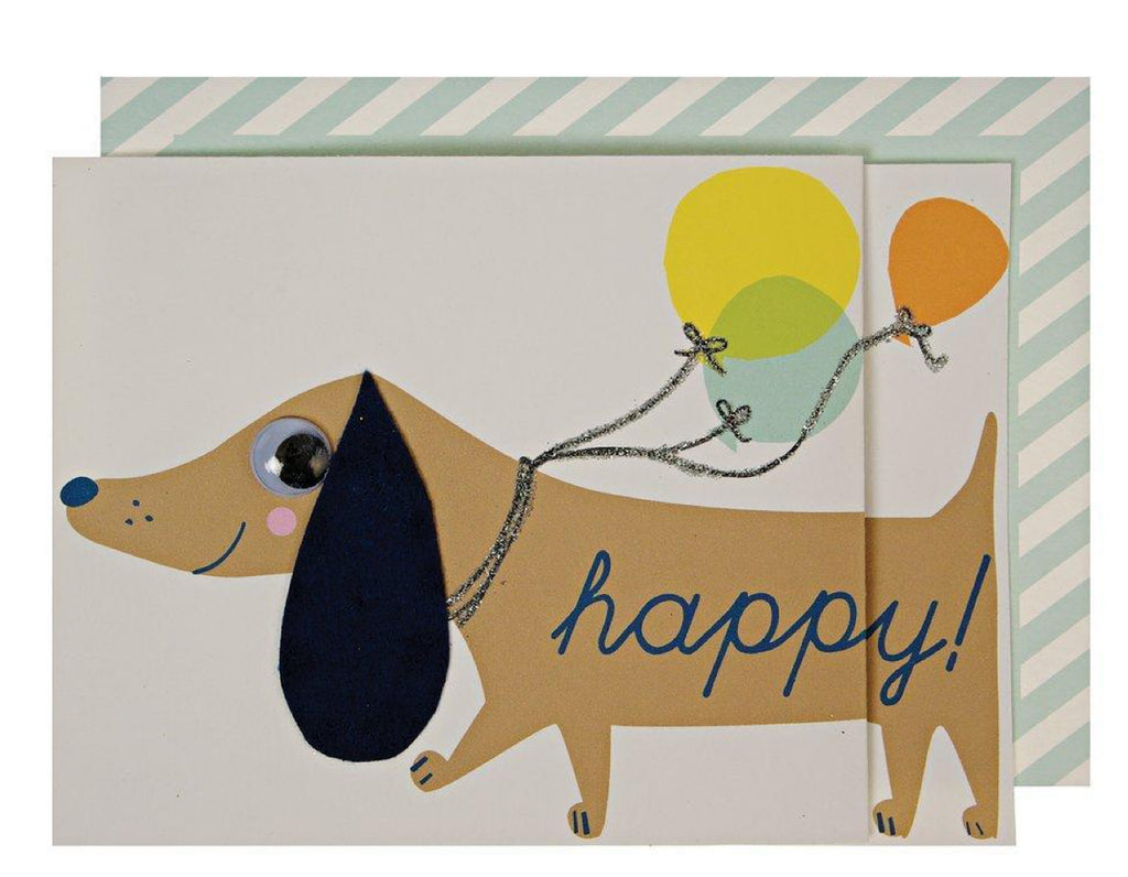 Meri Meri Sausage Dog Birthday Card