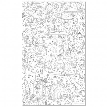 Makii Giant Colouring Picture