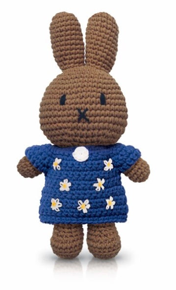 Miffy Crochet Melanie In A Blue Flower Dress