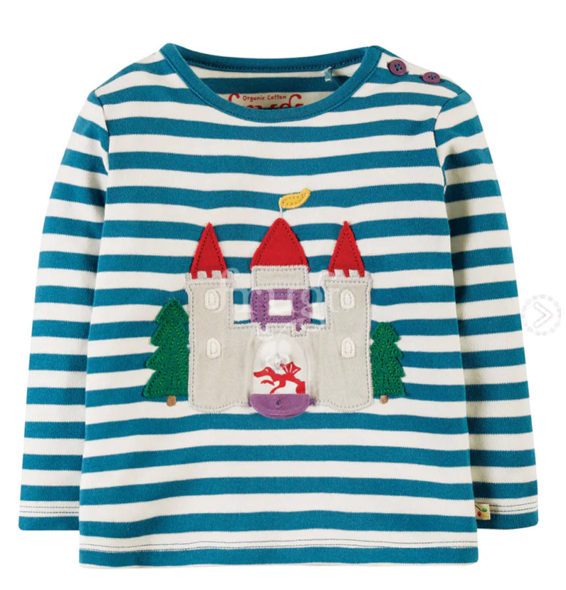 Frugi Ira Interactive Appliqué Top