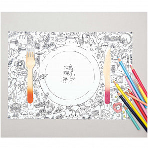 Rico Design Paper Poetry Colour-in Placemats