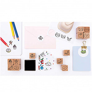 Rico Design Paper Poetry Magical Summer Faces Stamp Set