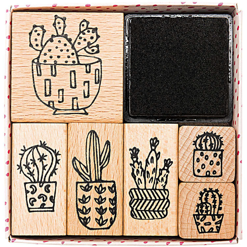 Rico Design Paper Poetry Hygge Cactus Stamp Set