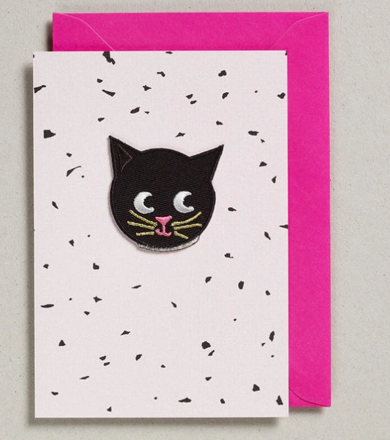 Petra Boase Iron On Patch Card Cat