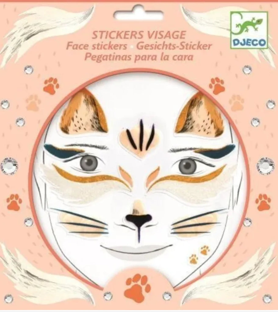 Djeco Cat Face Stickers