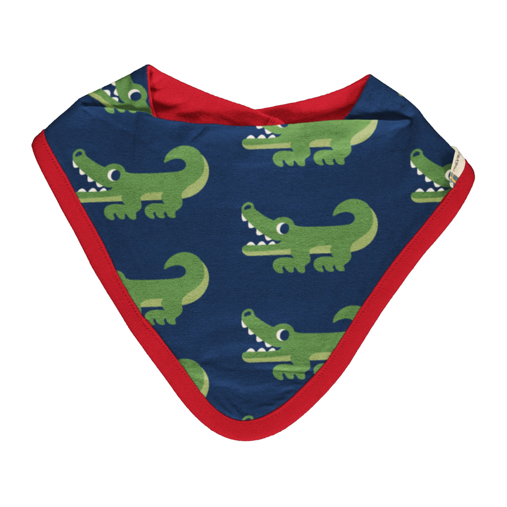 Maxomorra Crocodile Dribble Bib