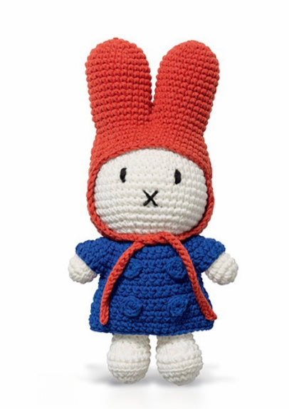 Miffy Crochet In A Blue Coat + Red Hat