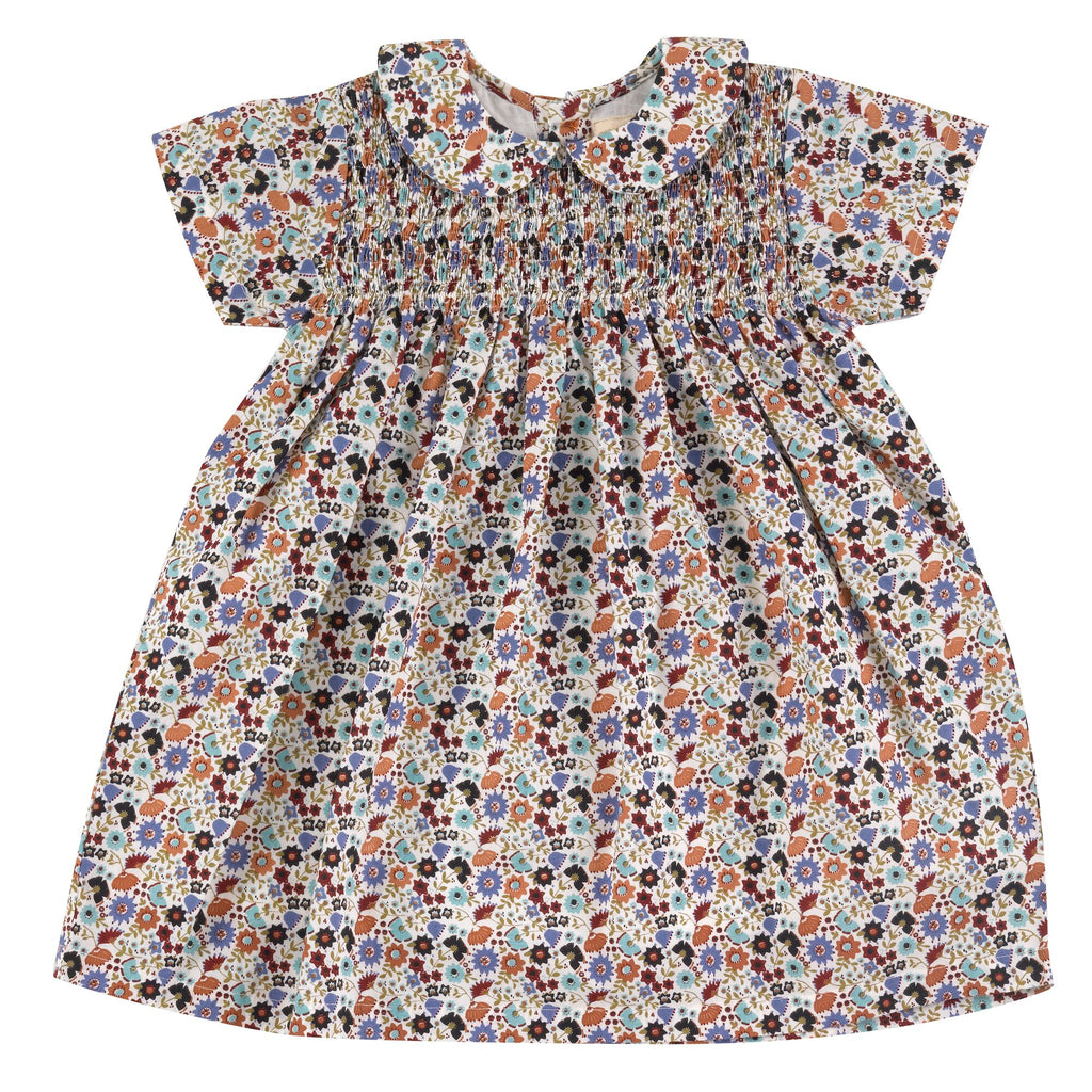 Pigeon Smock Peter Pan Collar Dress