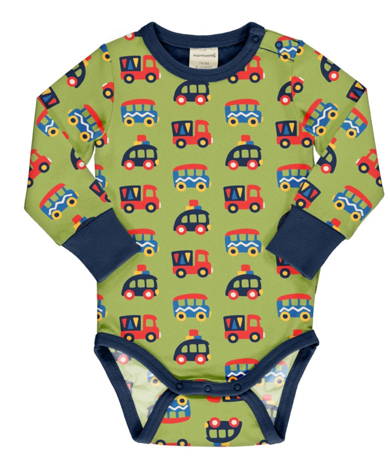Maxomorra Colourful Cars Long Sleeve Body