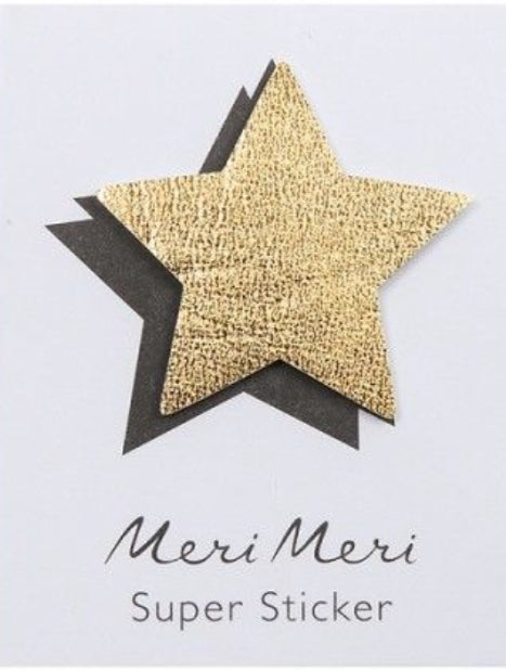 Meri Meri Leather Sticker Star