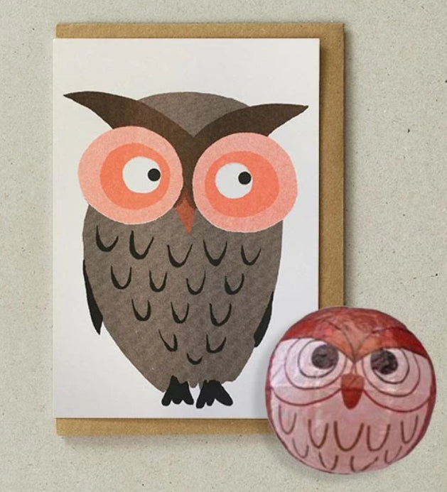 Petra Boase Japanese Paper Balloon Cards Owl