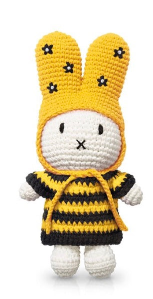 Miffy Crochet In A Striped Bee Dress And Flower Hat