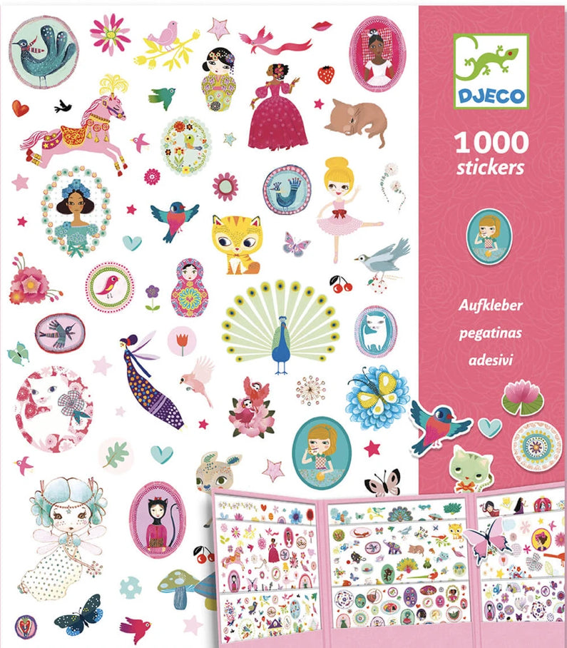 Djeco Paper Stickers 1000 Stickers Sweet
