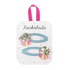 Rockahula Rainbow Cloud Glitter Clips - Multi
