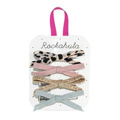 Rockahula Lily Leopard Skinny Bow Clips