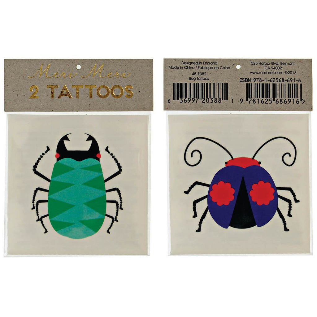 Meri Meri Bug Tattoos