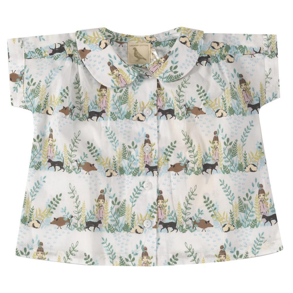 Pigeon Blouse With Peter Pan Collar