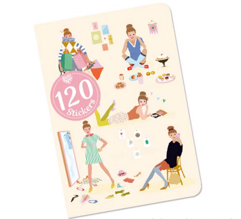 Lovely Paper Tinou Notebook With 120 Stickers