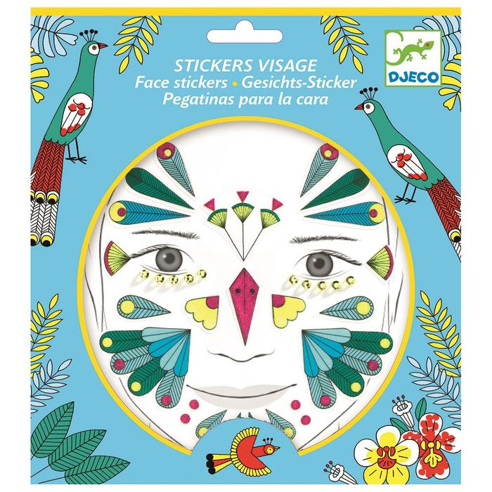 Djeco Bird Face Stickers