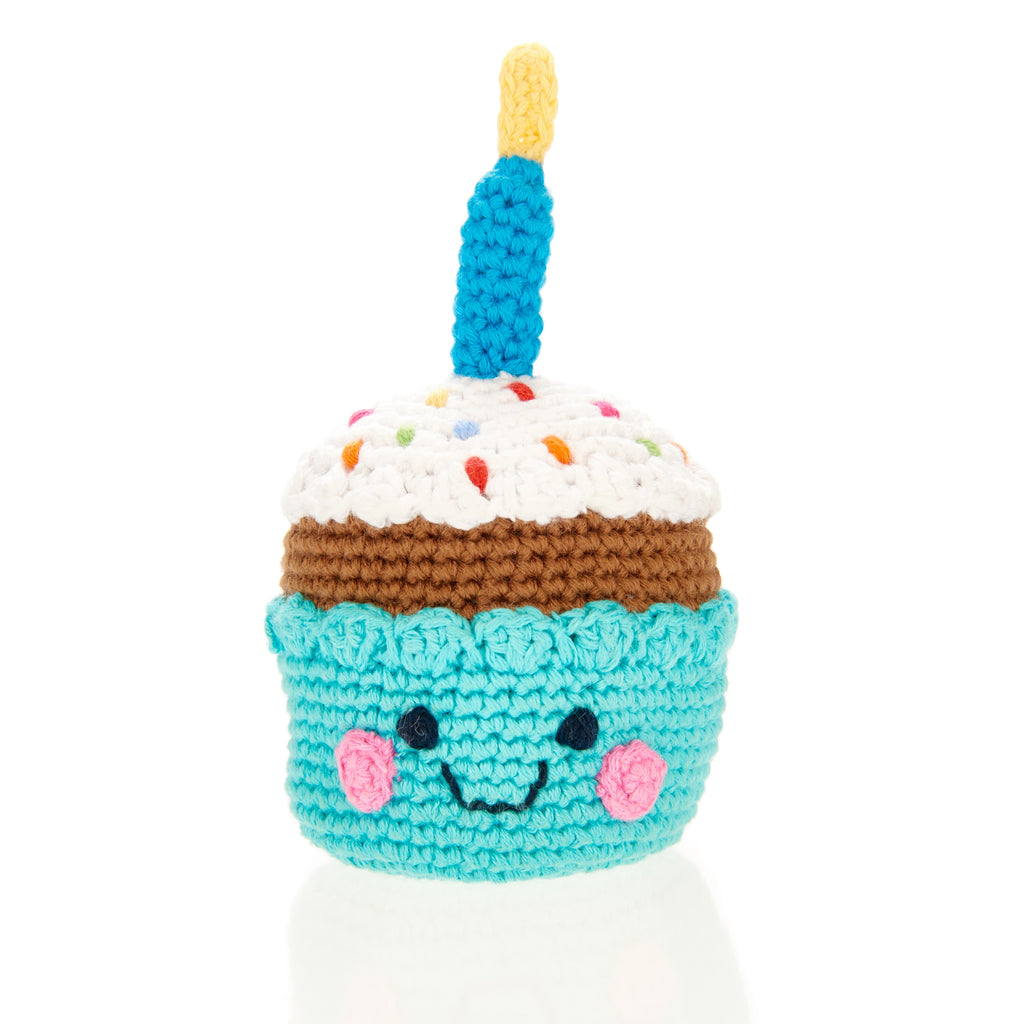 Cupcake With A Candle Rattle