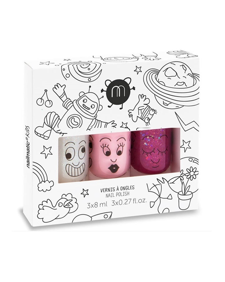Nailmatic Kids Nail Polish Trio - Cosmos 3