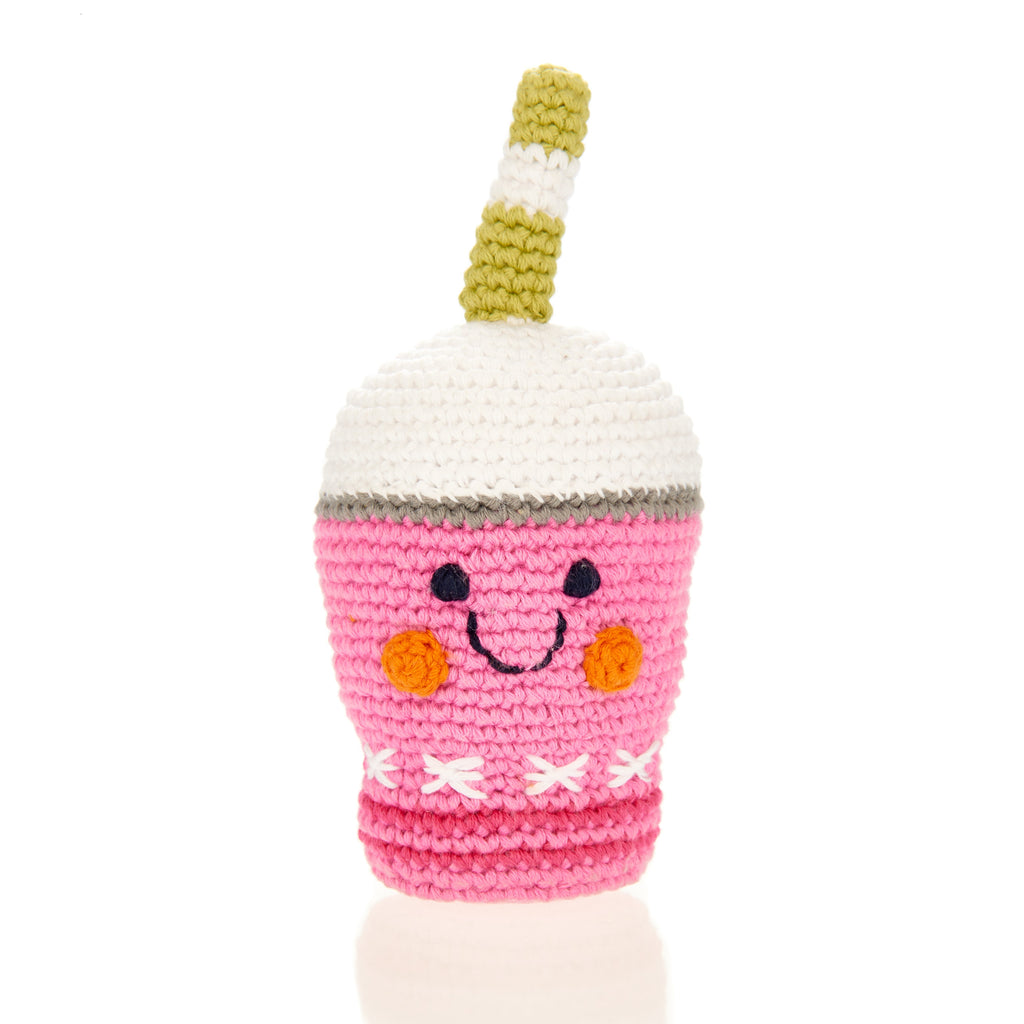 Pebble Strawberry Frappe Rattle