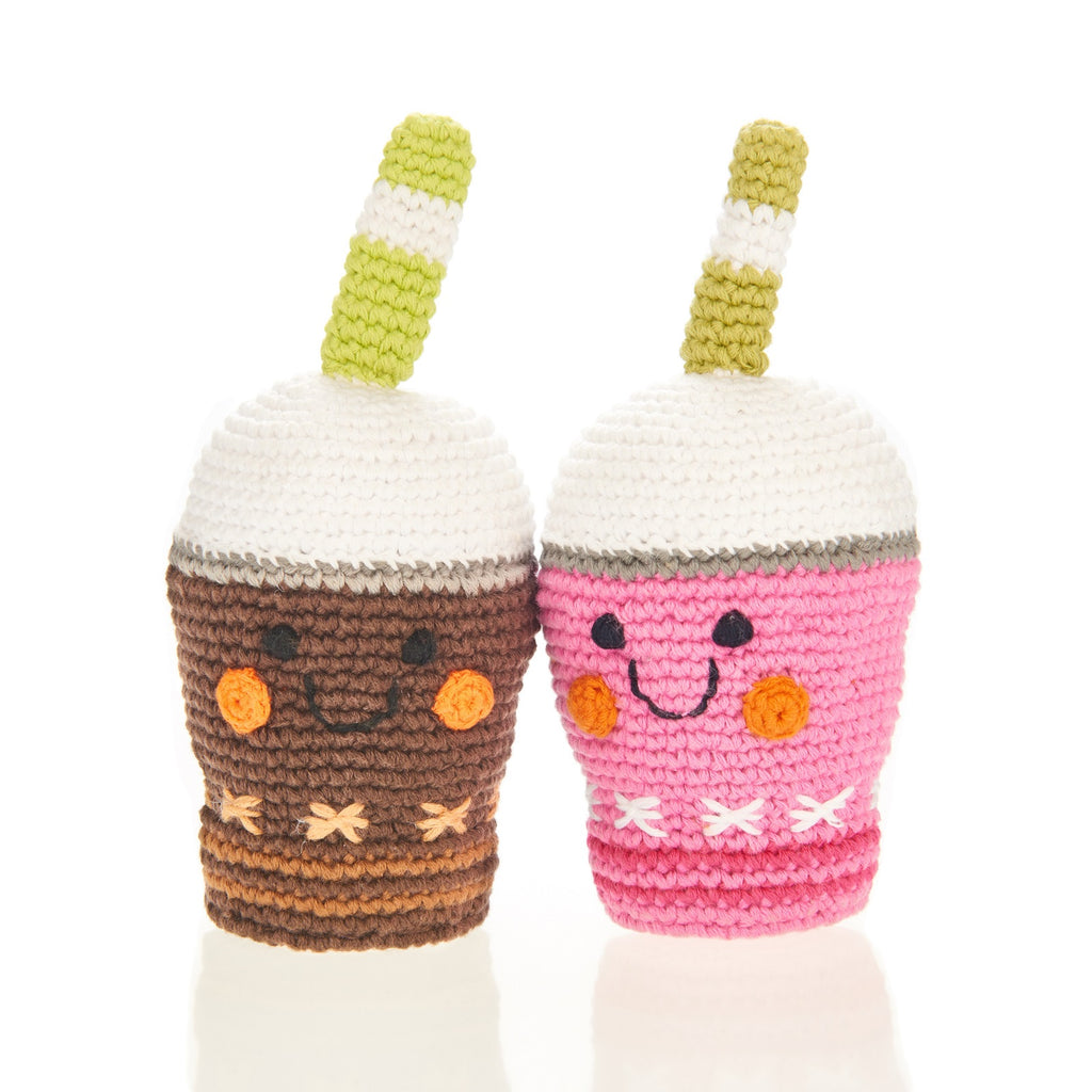 Pebble Chocolate Frappe Rattle