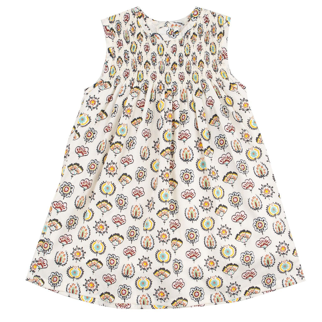 Pigeon Sleeveless Smock Dress