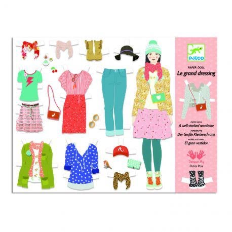 Djeco Paper Dolls- A Well Stocked Wardrobe