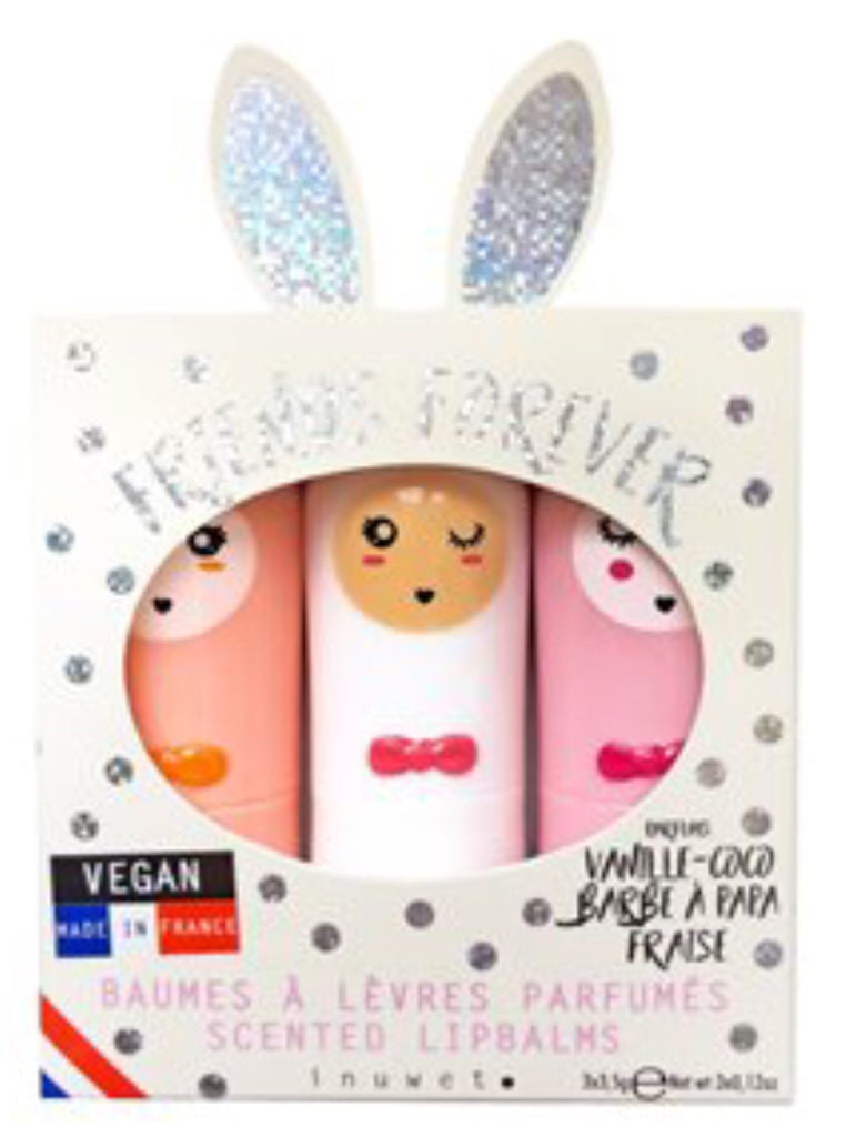 Inuwet Lip Balm Holo Dots Bunny Trio