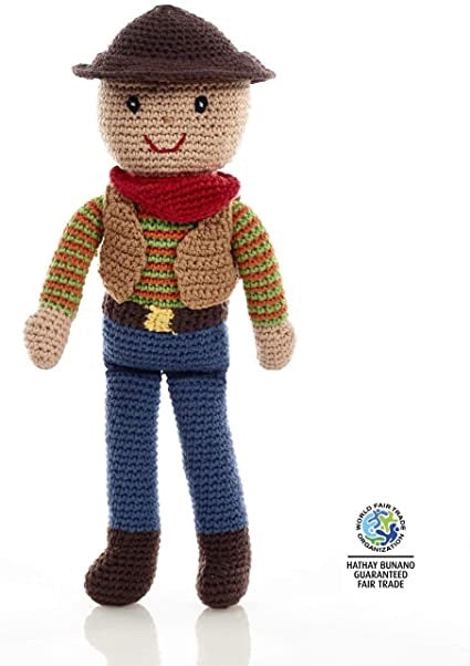Pebble Handmade Crochet Cowboy Doll